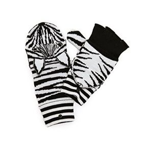NWT Alice + Olivia zebra gloves
